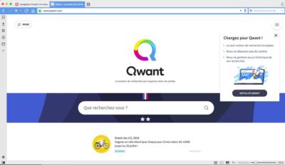 Le navigateur web Vivaldi intègre le moteur de recherche Qwant