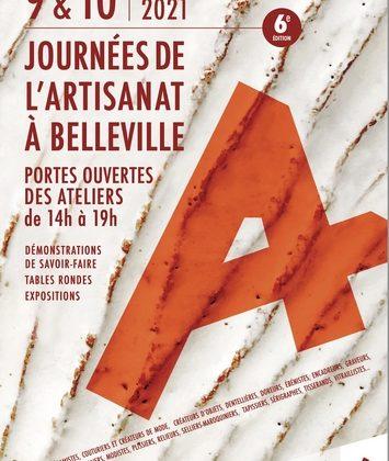 Journées de l'Artisanat de Belleville à Paris les 9 et 10 octobre
